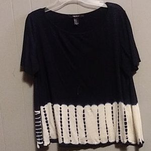 Navy blue tie dye style Forever 21 shirt